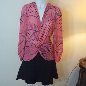 Bisou Bisou long sleeves  woman's blouse